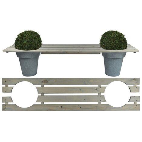 Esschert Design Banc avec espace pour jardinières 180 cm NG71