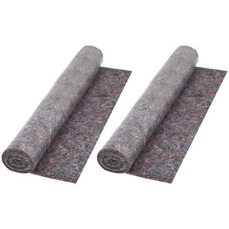 Bâche de Protection contre Peinture Gris 50 m 180 g/m² 2 pcs