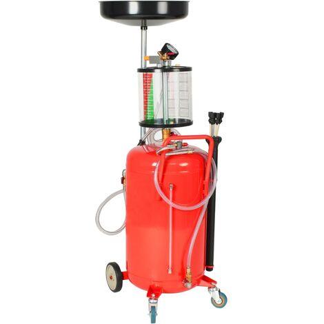 Pompe à vidange d'huile usagée 70 L Acier Rouge