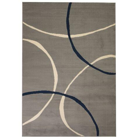 Tapis Moderne Design de Cercles Gris 80x150 cm