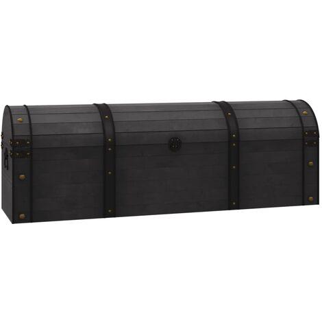 Coffre de rangement Bois massif style vintage 120 x 30 x 40 cm