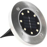 Lampe solaire de sol 8 pcs Lumières LED Blanc