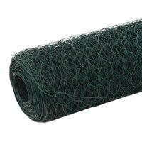Grillage Acier avec revêtement en PVC 25x1,2 m Vert