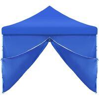 Tente de Réception Pliable 3x9 m Bleu 8 Parois