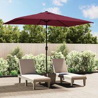 Parasol avec Mât en Métal 300 x 200 cm Bordeaux
