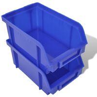 Jeu de paniers muraux de stockage Plastique 30pcs Bleu et rouge