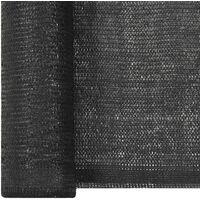 Filet brise-vue PEHD 2 x 25 m Noir