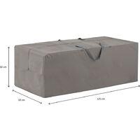 Madison Housse de coussins d'extérieur 125 x 32 x 50 cm Gris