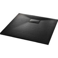 Bac de douche SMC Noir 90 x 80 cm