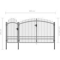 Portail de jardin Acier 2,45 x 4 m Noir