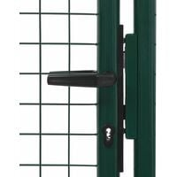 Portail de clôture Acier 100x150 cm Vert