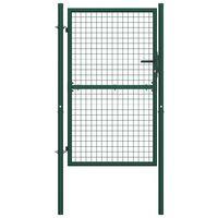 Portail de clôture Acier 100x200 cm Vert