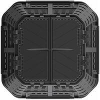 Composteur de jardin Noir 93,3x93,3x146 cm 1000 L