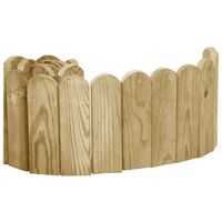 Rouleaux de bordure 3 pcs 120 cm Bois de pin imprégné