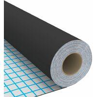Film autoadhésif pour meubles Noir 500x90 cm PVC