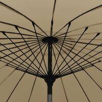 Parasol d'Extérieur avec Mât en Aluminium 270 cm Taupe