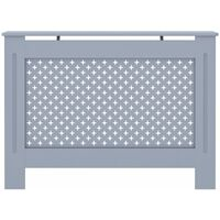 Cache-radiateur Anthracite 112x19x81 cm MDF