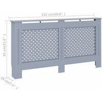 Cache-radiateur Anthracite 152x19x81 cm MDF