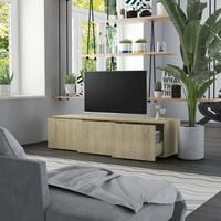 Meuble TV 120x34x30 cm Aggloméré Chêne Sonoma