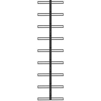 Casier à bouteilles mural pour 9 bouteilles Noir Fer