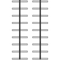 Casiers à bouteilles muraux pour 18 bouteilles 2 pcs Noir Fer