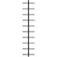 Casier à bouteilles mural pour 10 bouteilles Noir Métal