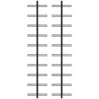Casiers à bouteilles muraux pour 20 bouteilles 2 pcs Noir Métal