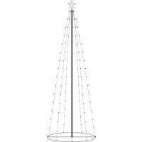Sapin de Noël cône 100 LED blanc chaud 70x180 cm