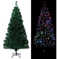 Sapin de Noël artificiel avec support Vert 120 cm Fibre optique