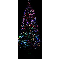 Sapin de Noël artificiel avec support Vert 180 cm Fibre optique