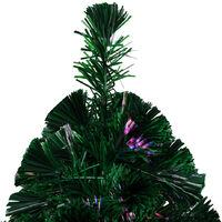 Sapin de Noël artificiel avec support Vert 210 cm Fibre optique