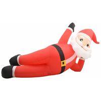 Père Noël gonflable LED IP44 Rouge 360 cm XXL
