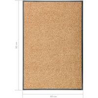 Paillasson lavable Crème 60x90 cm
