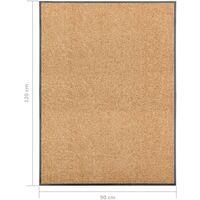 Paillasson lavable Crème 90x120 cm