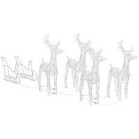 Décoration de Noël Rennes et traîneau 400 LED Acrylique