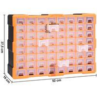 Organisateur multi-tiroirs avec 64 tiroirs 52x16x37,5 cm