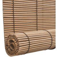 Stores roulants en bambou 2 pcs Marron 120x220 cm