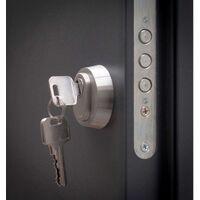 Porte d'entrée Aluminium Anthracite 110x207,5 cm