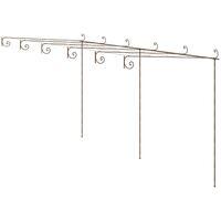 Arche de rosiers de jardin Marron antique 6x3x2,5 m Fer