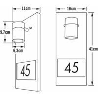 KONSTSMIDE Applique murale de numéro de maison Modena Noir mat