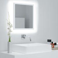 Miroir à LED de salle de bain Blanc 40x8,5x37 cm Aggloméré