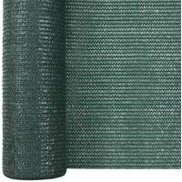 Filet brise-vue Vert 1,5x10 m PEHD 75 g/m²
