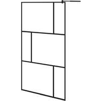 Paroi de douche à l'italienne avec verre trempé Noir 115x195 cm