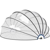 Dôme de piscine 550x275 cm