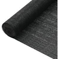 Filet brise-vue Noir 1,2x10 m PEHD 75 g/m²
