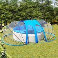 Dôme de piscine ovale 620x410x205 cm