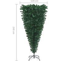 Sapin de Noël artificiel renversé avec support Vert 240 cm