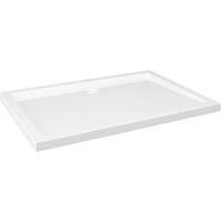 Receveur de douche rectangulaire ABS Blanc 70x100 cm
