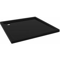 Receveur de douche carré ABS Noir 90x90 cm