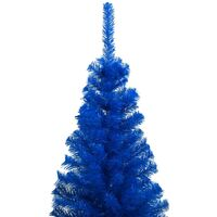 Sapin de Noël artificiel avec support Bleu 120 cm PVC